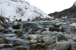 Forni stream waterfall