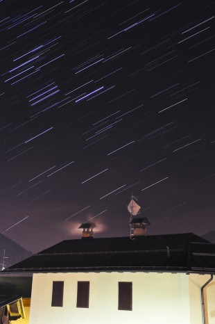 Star trails over Forni