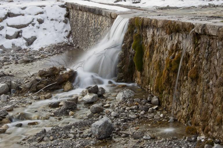 Stream waterfall in Forni