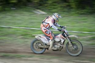 Motocross panning shot