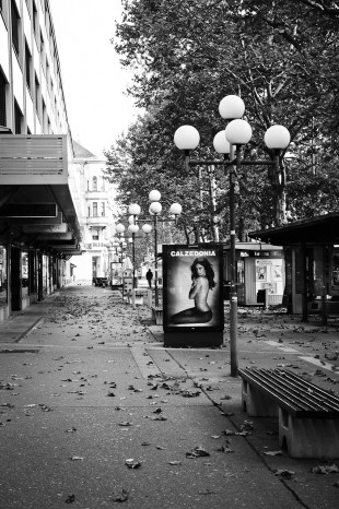 Empty street in Maribor
