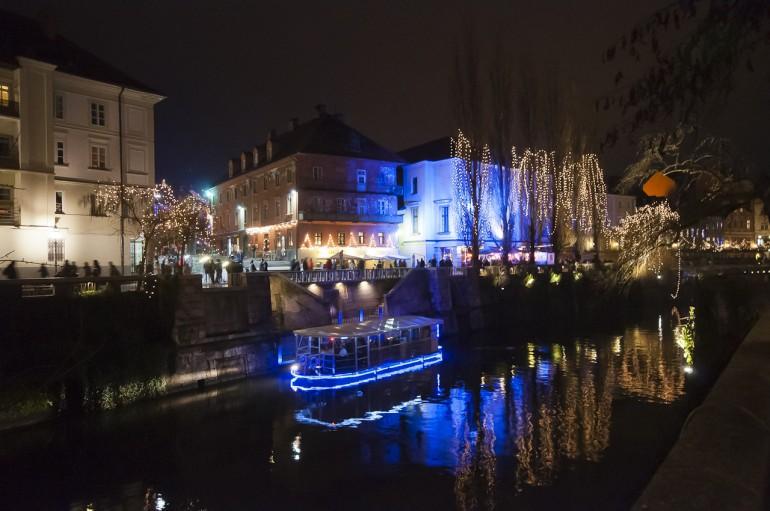 Holiday lights in Ljubljana