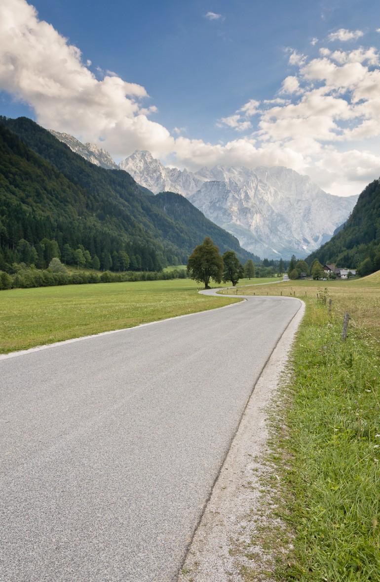 The road to Logarska valley