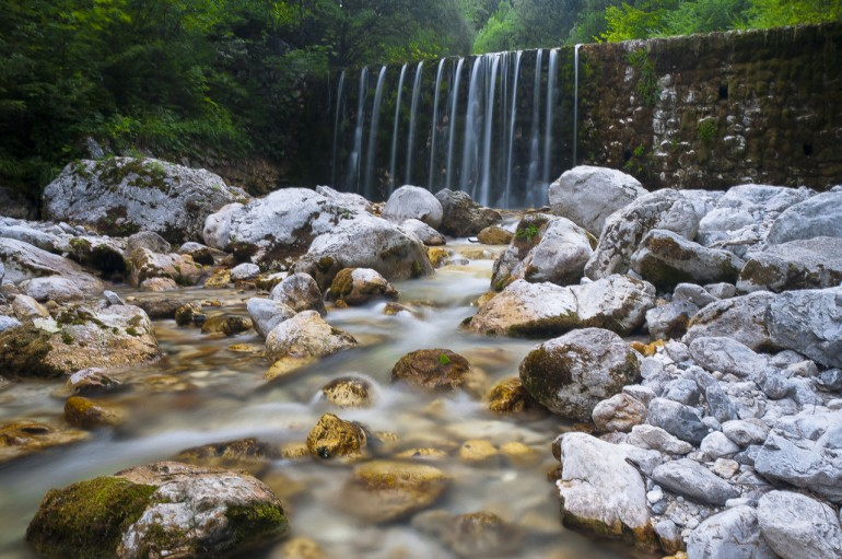 Waterfall in Robanov kot